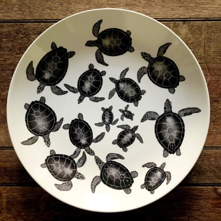 Tom Rooth Turtle Traffic Screenprint on earthenware Signed and inscribed on verso Limited edition of 188 Dia: 37 cm