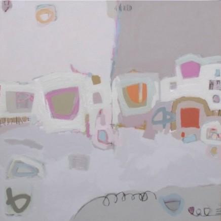 Stephanie Stow On the Edge Acrylic on canvas 100 x 100 cm