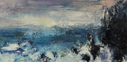 Nicola Rose The Sea I Oil and sand on canvas 30 x 60 cm