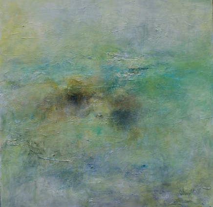 Debra Royston Rockpools Mixed media on canvas 100 x 100 cm
