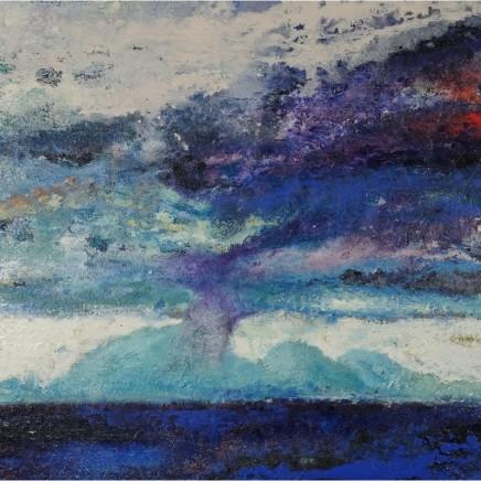Nicola Rose Sacred Isle Oil and sand on canvas 90 x 90 cm