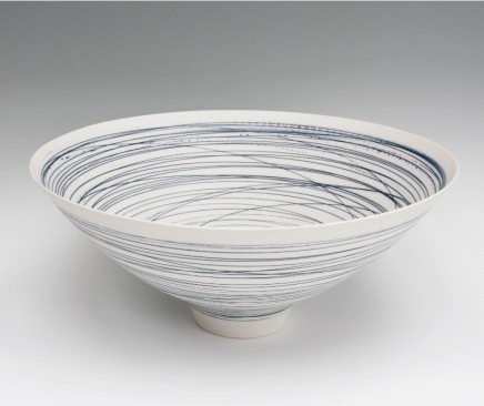 Ali Tomlin Large Blue Lines Bowl Porcelain