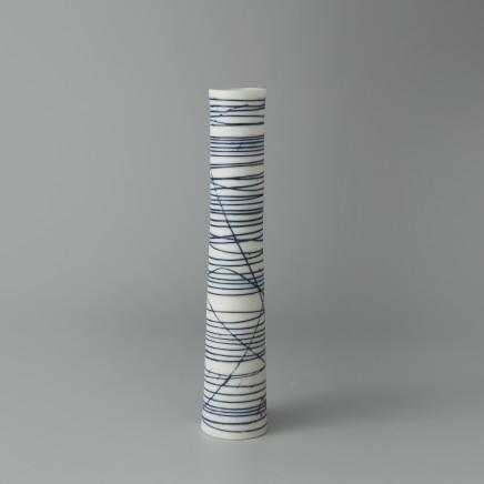 Ali Tomlin AT23: Single Stem - Blue Lines Porcelain H: 15 cm