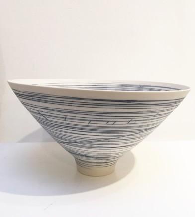 Ali Tomlin, Blue and white stripey bowl