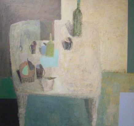 Nicholas Turner RWA, Table with Pears and Cups