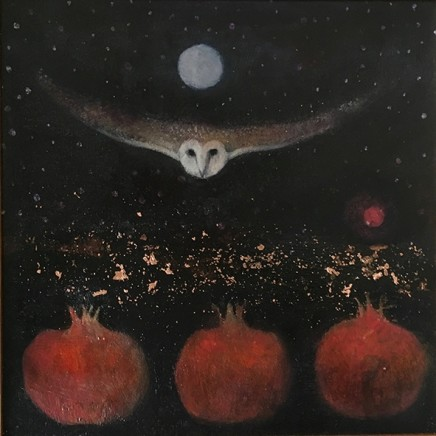 Catherine Hyde The Twelfth Day, 2018 Acrylic on canvas 30.5 x 30.5 cm