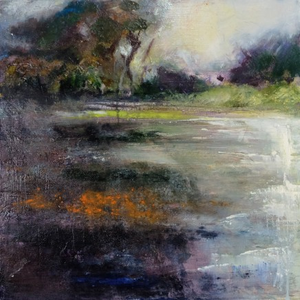 Nicola Rose Waterway Part I Oil on board 50 x 50 cm Pair