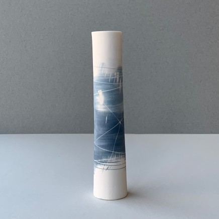 Ali Tomlin Single Stem - Two Blues Porcelain AT2