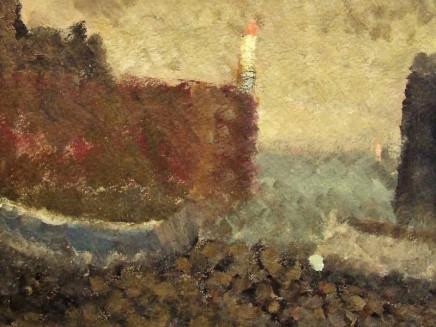 Nicholas Turner RWA Boats in a Harbour Oil on board 15 x 20 cm