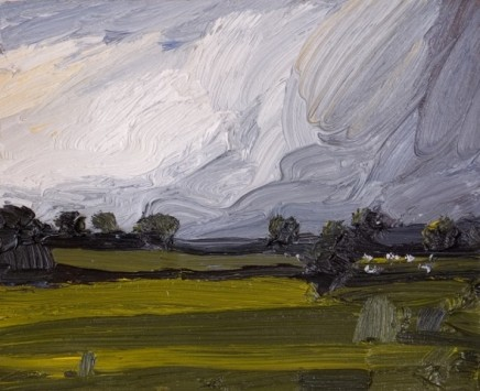Robert Newton Passing Storm Oil on canvas 24 x 30 cm