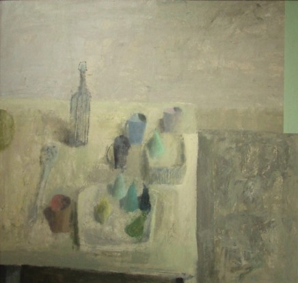 Nicholas Turner RWA, Table with Bottle and Pears