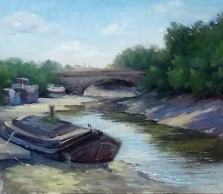 Chiara de Cabarrus Brentford looking toward Kew bridge Oil on canvas 30 x 35 cm