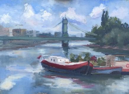 Georgie Vestey Bernardus Oil on canvas 25.4 x 36 cm