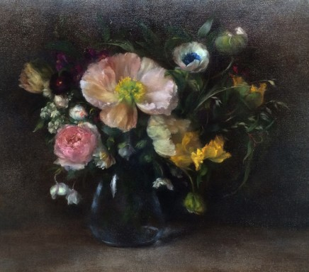 Nneka Uzoigwe Icelandic Poppies Oil on linen 44 x 50 cm