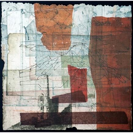 Jeremy Gardiner Levant, Autumn Monoprint 60 x 60 cm