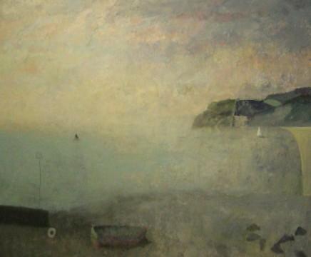 Nicholas Turner RWA, Beach with Two Sails
