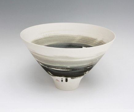 Ali Tomlin Bowl, Olive and Black Handbuilt porcelain vessels Glazed porcelain AT29