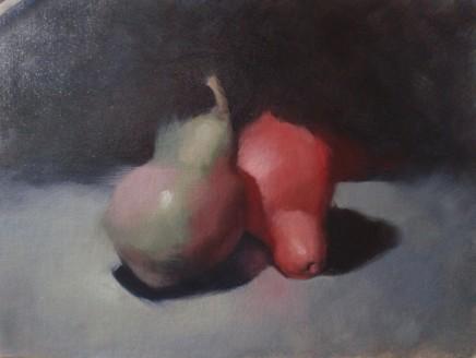 Michael Gallone Pere Colorate Oil on canvas panel 28 x 36 cm