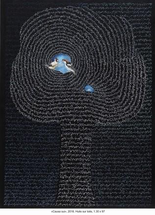 Causa Sui Katayoun Rouchi 2016 Oil on canvas