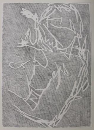 Stephanie Farmer Untitled (Reverse Epstein), 2017, graphite on paper, 84 x 60cm