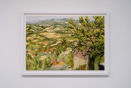Elaine Kusmishko, Landscape with tree, 2019