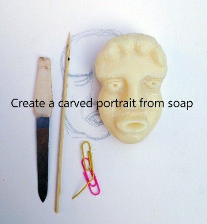 Make a carved portrait from soap
