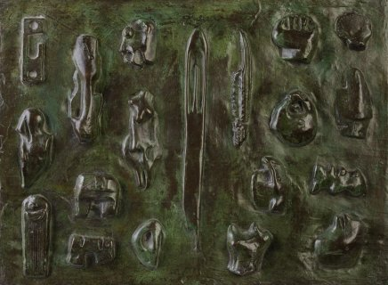 Henry Moore, Wall Relief : Maquette no.6 LH370, 1955