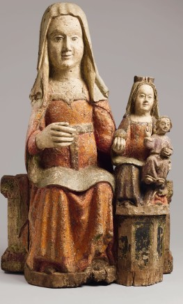 Madonna and Child with St Anne, 15th century
