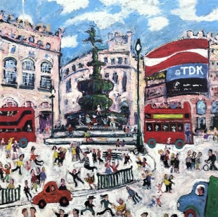 Simeon Stafford, Piccadilly Circus in Snow