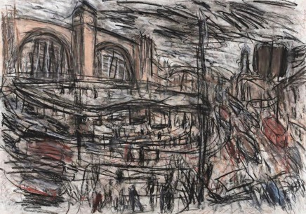 Leon Kossoff, View of King's Cross and Pentonville Road 1, 1997