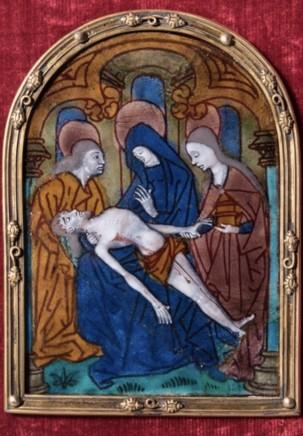 Limoges enamel plaque, c.1470