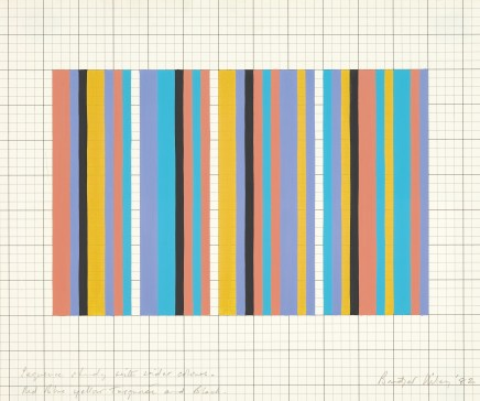 Bridget Riley, Sequence Study With Wider Colours, 1982