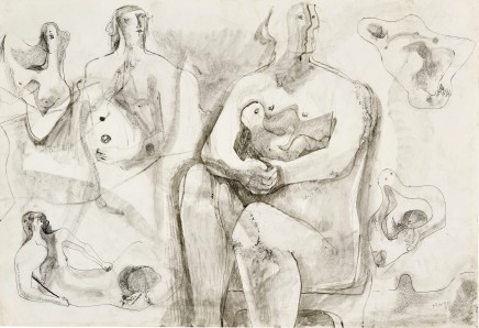 Henry Moore, Mother and Child and related Studies for Sculpture, 1933