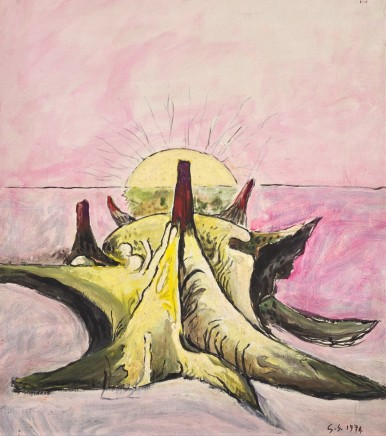 Graham Sutherland, Horned Form Pink Sky, 1974