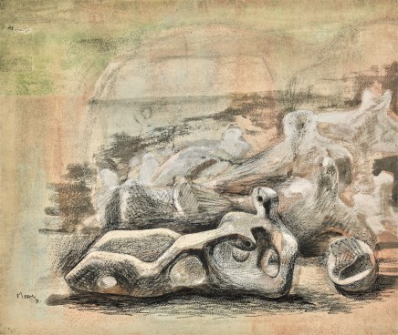 Henry Moore, Landscape with Figures, 1938