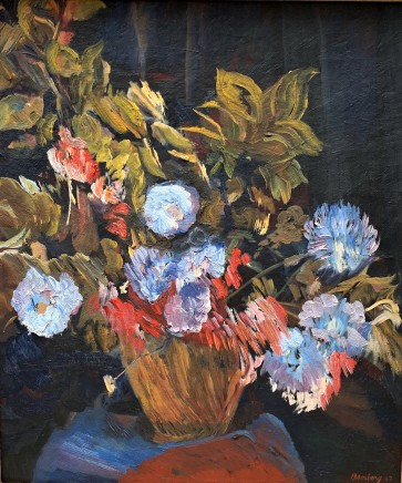 David Bomberg, Still Life With Flowers, 1943
