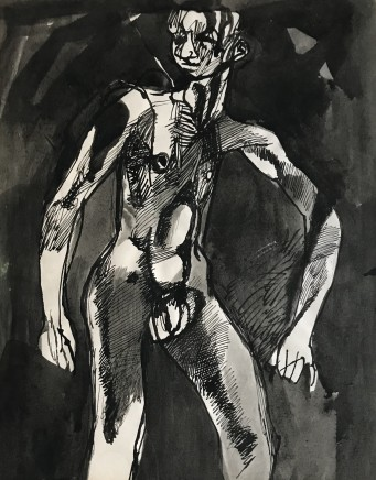 Keith Vaughan, Male Nude Standing, 1948