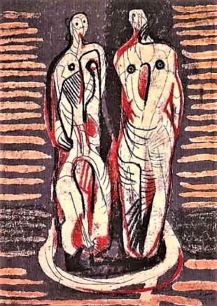Henry Moore, Two Standing Figures, 1948