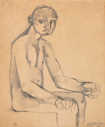 Keith Vaughan, Study of John McGuinness, c.1948