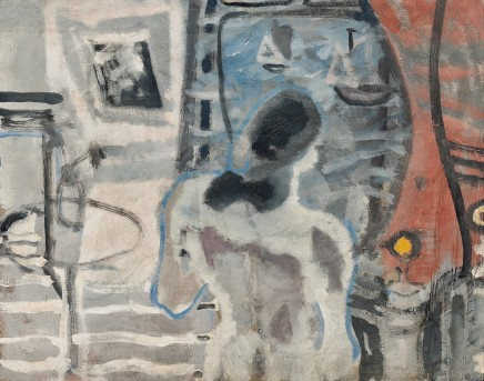 Patrick Heron, Nude Looking Out Over St Ives Harbour, 1949