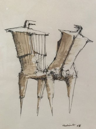 Lynn Chadwick, Two Figures, 1956