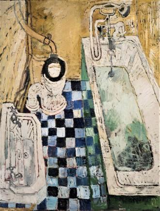 John Bratby, Bathroom 2, 1957