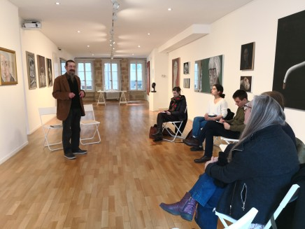 Discussion between Grégoire Müller and students in Art History