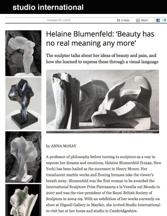 Helaine Blumenfeld: 'Beauty has no real meaning anymore'