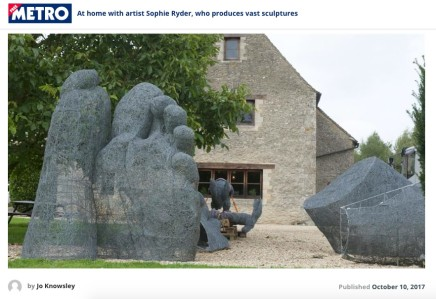 At home with artist Sophie Ryder, who produces vast sculptures.