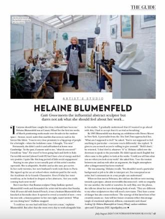 STUDIO VISIT: Helaine Blumenfeld