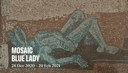 Blue Lady, Mosaic by Sophie Ryder, 2021