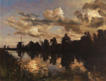Evening, Kinderdijk, near Dordrecht, Netherlands Kinderdijk is a World Heritage Site SOLD