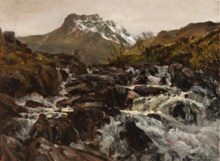 Falls from Llyn Idwal, Glyderau Mountains, Snowdonia