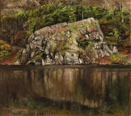 Rock at Llyn Gwynant, Snowdonia SOLD